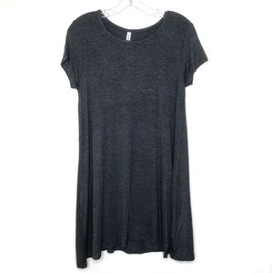 Boutique Grey T-Shirt Flowy Dress